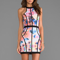 Finders Keepers Winter Birds Dress in Electric Rose Print from REVOLVEclothing.com