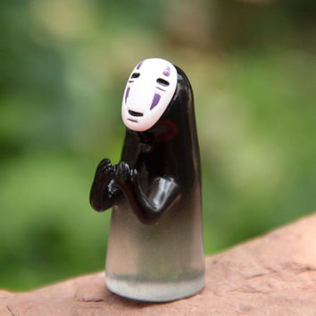 Action Figure random Miyazaki Hayao Spirited Away No Face Man DIY 4.1cm PVC Ornaments Landscape decoration Doll Model Anime