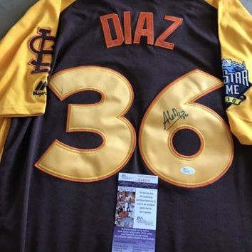 Aledmys Diaz Signed Autographed St. Louis Cardinals 2016 All-Star Baseball Jersey (JSA COA)