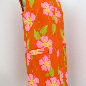 60s Malihini Vintage Dress  Designer's Collection by JoulesVintage