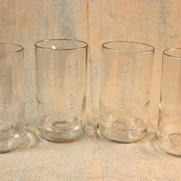 Drinking Glass Set Upcycled from Southern Comfort Bottles, Upcycled Glasses, Recycled Liquor Bottles