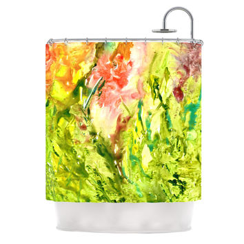 "Rosie Brown ""Green Thumb"" Paint Lime Shower Curtain"
