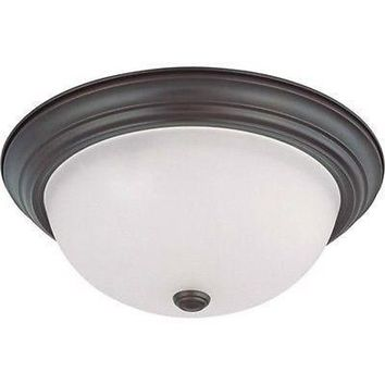 "Nuvo 60-3337 - 15"" Flush Mount Ceiling Light in Mahogany Bronze Finish"