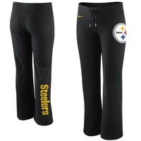 Nike Pittsburgh Steelers Ladies Tailgater Fleece Pants - Black