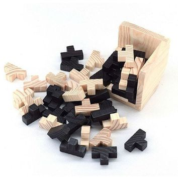 DCCKL72 Educational Wood Puzzles For Adults Kids Brain Teaser 3D Russia Ming Luban Educational Kid Toy  Children Gift Baby Kid's Toy