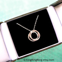 TRINITY Sterling silver necklace jewelry three by RingRingRing