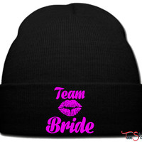 team bride beanie knit hat