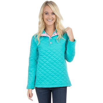 The Lawson Quilted Pullover in Lagoon by Lauren James - FINAL SALE