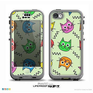 The Colorful Cat iCons Skin for the iPhone 5c nüüd LifeProof Case