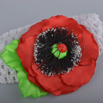 Handmade designer headband stylish accessory for kids headband with flower