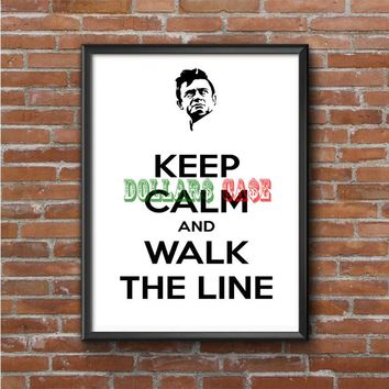 Keep Calm (walk the line) Photo Poster