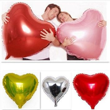 PEAPIX3 Super Big Heart Shape Inflatable Balloon Aluminum Foil Wedding Marriage Decoration = 1932682884