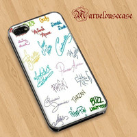 Disney all character signature custom case for all phone case