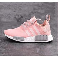 """Pink&grey """"Adidas"""" NMD Women Fashion Trending Running Sports Shoes Sneakers"""