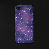 iPhone 6 Plus Case - iPhone 6 Case - iPhone 6+ Case - iPhone 5c Case - Stars Galaxy Purple - iPhone 4 Case - Constellations iPhone Case