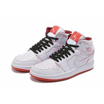 Air Jordan 1 Mid White Red - Best Deal Online