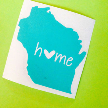 ANY State decal State Sticker Car Decal Monogram Decal Monogram Vinyl Decal Monogram Gift Monogram sticker Car sticker Vinyl Lettering