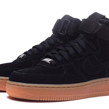 LMFON Nike Air Force 1 AF1 Black For Women Men Running Sport Casual Shoes Sneakers