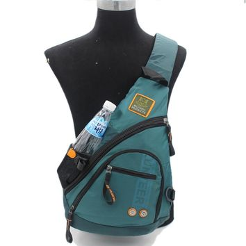Waterproof Oxford Nylon Men Messenger One Shoulder Rucksack Cross Body Bag Book Male Knapsack Sling Chest Sling Back Pack Bags