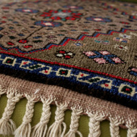 Pair of Handmade Turkish Carpets, Small Decorative Carpers, Wool Handmade Turkish Carpets