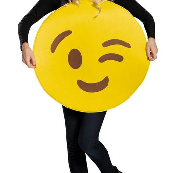 Emoticon Wink Costume for Halloween for adults
