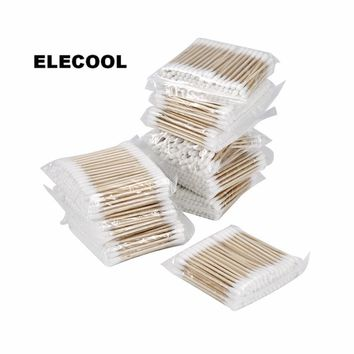 ELECOOL 1000Pcs Disposable Makeup Cotton Swabs Double Head Cotton Buds Ear Nose Clean Soft Swab Stick For Health Care