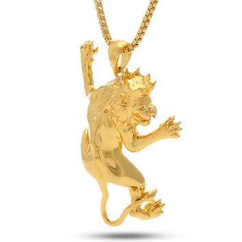 The Lion Prowl Necklace - Designed by Snoop Dogg x King Ice