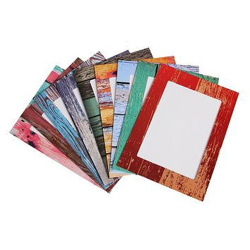 9 Pcs Rectangle Paper Photo Frame