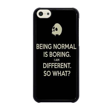 normal is boring quotes iphone 5c case cover  number 1