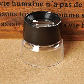 10X Magnifying Glass Magnifiers Microscope for Jeweler Loupe Stamp Antique or Reading Books Maps Magazines Menus Bills FULI