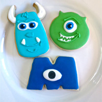 Monster Cookies/ Monster University inspired sugar cookies