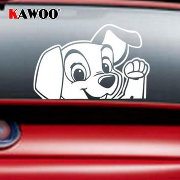 KAWOO Animal Sticker Cute Puppy Dog Car Stickers Car Window Decor Car-styling Auto Motorcycle Decals Free Shipping 14*9.8cm