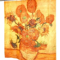 """Sunflowers"" Fabric Shower Curtain"