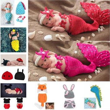 Crochet Knit Newborn Mermaid Tail Costume plus more