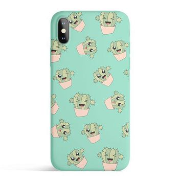 Kawaii Cactus - Colored Candy Matte TPU iPhone Case Cover