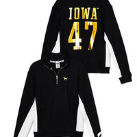 University Of Iowa Boyfriend Half-Zip - PINK - Victoria's Secret