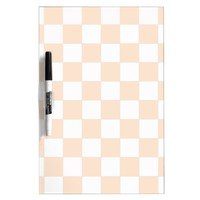Light Bisque Checkerboard Dry-Erase Board