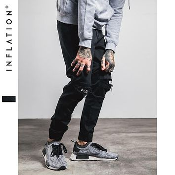 New Ripped Frayed Jeans For Men Skinny Destroyed Famous Hip Hop Black Men Joggers Pants Casual High Street