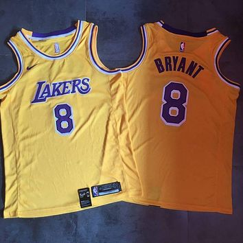 2018-19 8 Kobe Bryant Yellow Swingman Jersey