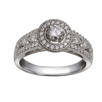 Regal Halo Ready For Love Diamond Engagement Ring Steven Singer Jewelers