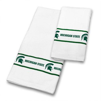 NCAA Michigan State Spartans Towels College Bath Accessories