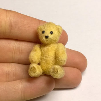 Miniature Teddy Bear, Dollhouse Miniature, Polymer Clay