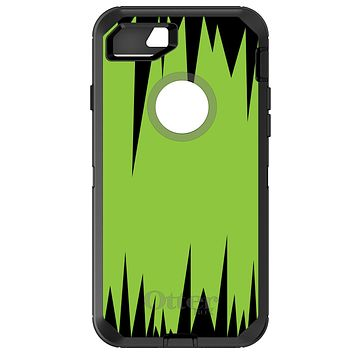 DistinctInk™ OtterBox Defender Series Case for Apple iPhone / Samsung Galaxy / Google Pixel - Lime Green Black Spikes