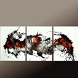 3pc Abstract Canvas Art Painting 54x24 Original Contemporary Paintings by Destiny Womack - dWo -  On The Wild Side