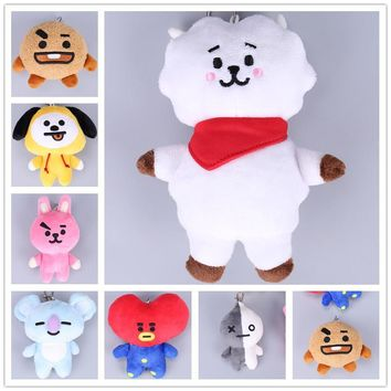 KPOP BTS Bangtan Boys Army   BT21  VAN SHOOKY COOKY  Pillow Stuffed Plush Toy Doll Cushion Hugging Costume Decor bt21 pillow Pendant Keychain AT_89_10