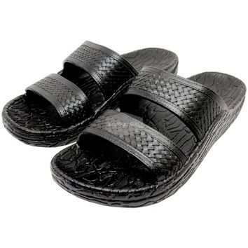"Pali Hawaii Black Cruise Jandals Sandal ""NEW JESUS SANDAL"""