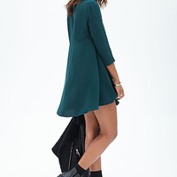 Long-Sleeved Shift Dress