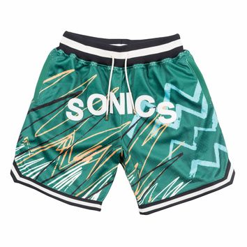 Just Don Sublimated Shorts Seattle Supersonics