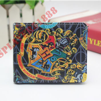 Harry Potter Wallets Slim Men Purse Boy Bifold Wallets Money coin Cards Bag leather pu purse