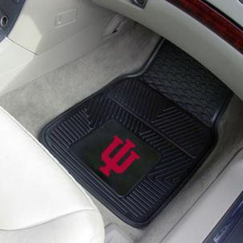 Indiana University Heavy Duty 2-Piece Vinyl Car Mats